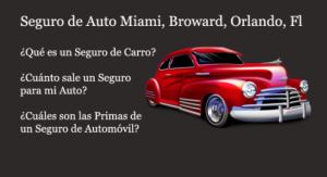 Informacion de Seguros de Autos en Florida